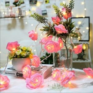 🎀PINK AESTHETIC ROSE STRING LIGHTS New🎀